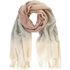 Mint Velvet Winter Ombre Scarf, Pale Pink Blush found on Polyvore featuring accessories, scarves, шарф, mint velvet, ombre scarves and faux-fur scarves