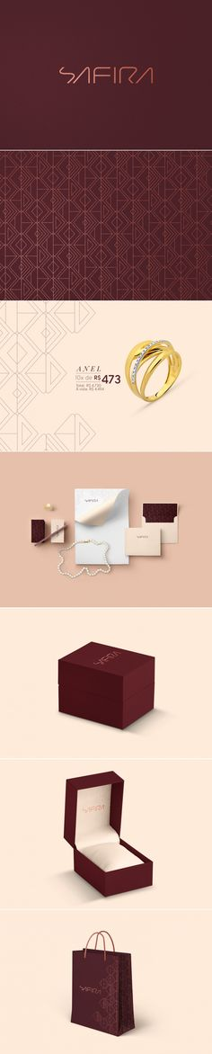 Safira Jewelry Store Branding by Thayse Hoffmann | Fivestar Branding Agency – Design and Branding Agency & Curated Inspiration Gallery #jewelry #jewelrybranding #branding #brand #design #packaging #package #logo #logotype #typography #behance #pinterest #dribbble #fivestarbranding