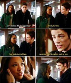 """Eddie should have walked up to Barry say """"What are you doing?"""" then slap Barry then break up with Iris. Then Barry and Iris kiss and Barry asks her out. O Flash, Flash Arrow, Supergirl Dc, Supergirl And Flash, Cw Tv Series, Best Series, Justice League Show, Barry Iris, Otp"""
