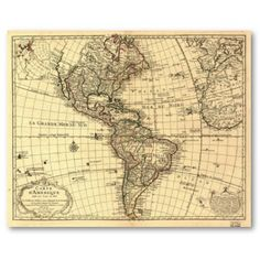 Old map - Americas