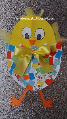 mamatosiaczka: KURCZACZEK W PISANCE -praca plastyczna z papieru Tweety, Pikachu, Aga, Crafts, Fictional Characters, Paper, Manualidades, Handmade Crafts, Fantasy Characters