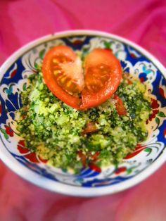 tabulle salada with heart tomato!