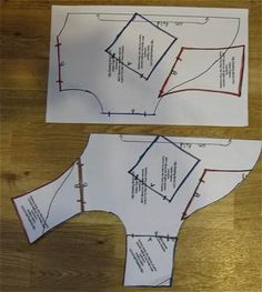 Photo of how to assemble the free dog coat pattern pieces