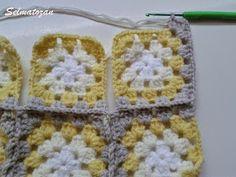 ELİMDEN GELENLER: İplik Koparmadan Motif Birleştirme Crochet Coat, Pattern, Crocheting, Patterns, Model, Swatch