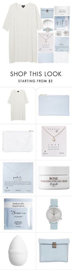"""I WANNA DANCE ON THE ROOF"" by expresng ❤ liked on Polyvore featuring Monki, Whistles, Dogeared, Fresh, Deborah Lippmann, Komono, H&M, 3.1 Phillip Lim, Byredo and bathroom"