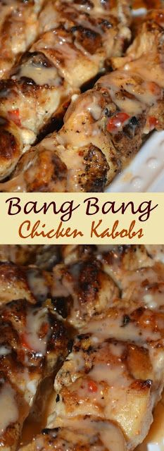 Bang Bang Chicken Kabobs The post 382 / Bang Bang Chicken Kabobs appeared first on Tasty Recipes. One Dish Meals Tasty Recipes Pastas Recipes, Meat Recipes, Chicken Recipes, Cooking Recipes, Healthy Recipes, Best Bbq Recipes, Recipies, Icing Recipes, Kale Recipes