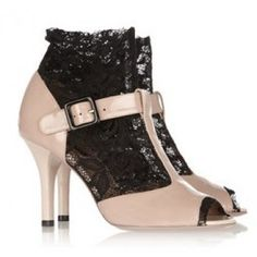 Dolce & Gabbana Lace-insert patent-leather sandalsDolce & Gabbana Lace-insert patent-leather sandals