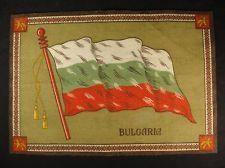BULGARIA FLAG Early 1900s Tobacco Cigar Cigarettes Silks Felt Rug Dollhouse