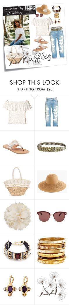"""""""sunshine on my shoulders"""" by constanceee64 ❤ liked on Polyvore featuring Post-It, Hollister Co., SONOMA Goods for Life, NOVICA, Sun N' Sand, J.Crew, Gucci, Oliver Peoples, Nocturne and Ashley Pittman"""