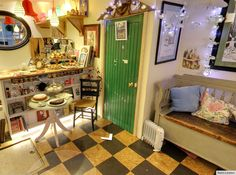 Curiouser And Curiouser of Totnes, Devon, United Kingdom. Alice in Wonderland themed gift and tea/coffee shop.