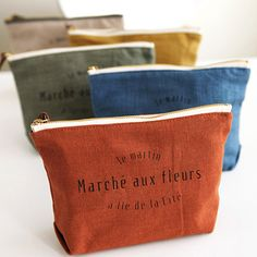 I absolutely love this! Inspiration to make a simple to sew pouch and add graphic design (inspiration only - link is commercial)
