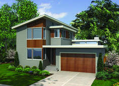 Clean Lines in Two Versions - 69450AM   Contemporary, Northwest, Photo Gallery, 2nd Floor Master Suite, Butler Walk-in Pantry, CAD Available, Den-Office-Library-Study, PDF, Narrow Lot   Architectural Designs