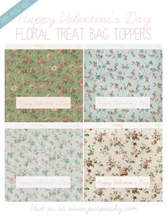 Printable Floral Treat Bag Toppers