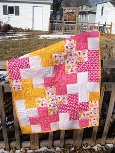 plus quilt for baby girl
