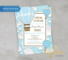 Trendy baby shower invitations for boys diaper etsy ideas Balloon Invitation, Baby Shower Invitation Templates, Baby Shower Invitations For Boys, Baby Shower Balloons, Birthday Balloons, Baby Shower Gifts For Boys, Baby Boy Shower, Baby Shower Invitaciones, Air Balloon
