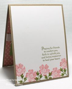 Stippled Blossoms, stampin up, Making a Sympathy Card - Paper Crafts Idea