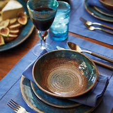 Shatterproof melamine takes on extraordinary style in our Transcendence Dinnerware. & Ceramic Dinnerware Dishes Rustic Earthy Glaze Handmade Set of Six ...