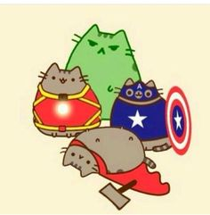 Pusheen Super Heroes
