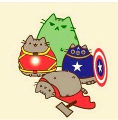 Pusheen Super Heroes