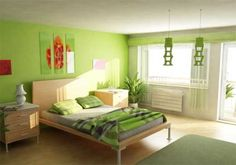 Bedroom Design, Agreeable Interior Design Bedroom Colors In Soft Green Comfortable Room Designs Combined With Cool Decoration On The Wall As Well As Ceilings Schemes Also White Nifty Lamp On Night Table: Beautiful Interior Design Bedroom Colors Bedroom Paint Colors, Green Paint Colors Bedroom, Colorful Bedroom Design, Modern Bedroom Colors, Green Bedroom Colors, Green Bedroom Design, Interior Design, Bedroom Color Schemes, Interior Design Bedroom