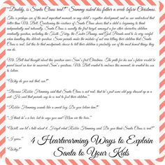 A letter to kids santa is real free printable carrie and cheer 4 heartwarming letters to explain santa to your kids spiritdancerdesigns Choice Image