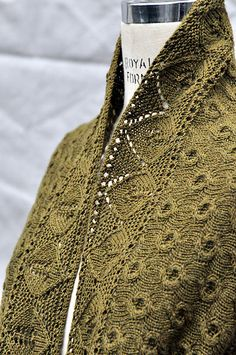One of the more gorgeous shawl/scarves I've seen. Ravelry: Rhea Silvia pattern by Sara Morris