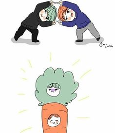 Yoonmin makes carrot. Tq.