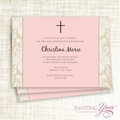37 best confirmation invitations images baptism invitations first