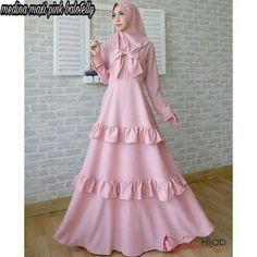 Dress Mode Abaya, Mode Hijab, Islamic Fashion, Muslim Fashion, Frilly Dresses, Cute Dresses, Abaya Fashion, Fashion Dresses, Hijab Prom Dress