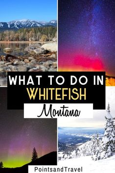 What to do in Whitefish Montana. Whitefish, Montana is the perfect spot to avoid crowds. It is in the middle of vast stretches of untouched wilderness on all sides. There are so many fun things to do in Whitefish Montana! Explore Glacier National Park, indulge at Whitefish Farmers Market or take a Distillery Tour. | What to do in Whitefish Montana | What to do in Montana | Best Nature Spots in the US | Glacier National Park |