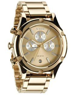 Nixon Camden Chrono A-354-1219 Champagne Gold Silver $290