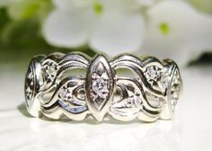 Vintage Ladies Diamond Wedding Band 14K by LadyRoseVintageJewel, $775.00