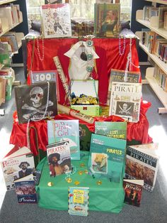 Great way to display books with similar themes!