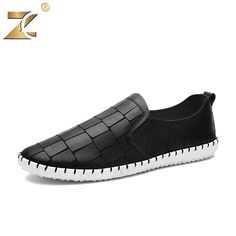 9c4eabd12031 2016 Famous Fashion Design Brand European style Leather Men Casual Shoes  Outdoor Breathable Handmade Men Shoes zapatos casuales