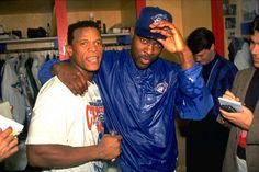 Dave Stewart and Rickey Henderson celebrate in the locker room after Toronto won the 1993 World Series: pic.twitter.com/A94oSpH9