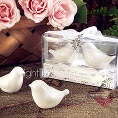 Birds Design Salt & Pepper Shakers Set Wedding Favors with Charm Beter Gifts® 10 x 4 x 5 cm/box 2017 - $2.99