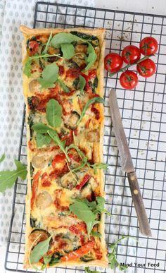 Italiaanse quiche met gegrilde groenten en pesto - Mind Your Feed