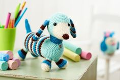 Free crochet dachshund pattern from LGC Knitting & Crochet issue 69. Could not adore this sausage dog crochet more!