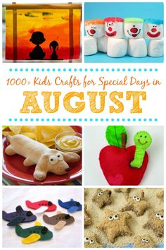 Kids Crafts for Special Days in August   Fun Family Crafts Seashell Crafts, Beach Crafts, Summer Crafts, Special Days In August, Crafts For Seniors, Crafts For Kids, August Kids Crafts, Recycled Crafts Kids, Senior Gifts
