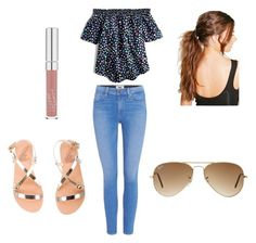 """""""spring outfit"""" by bobbiemarie03 ❤ liked on Polyvore featuring interior, interiors, interior design, home, home decor, interior decorating, J.Crew, Paige Denim, Ancient Greek Sandals and Boohoo"""