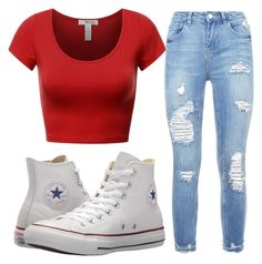 """Untitled #55"" by lizzybb on Polyvore featuring Converse"