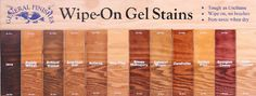 General Finishes gel stain colors, plan to use to redden up my trim!