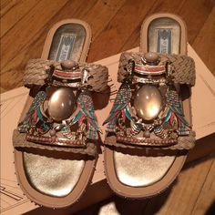 ⬇️Sale⬇️Ivy Kirzhner leather Tutankamen sandals Ivy Kirzhner sandals w/dust bags 5/24 Shoes Sandals