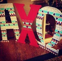 Our beautiful letters!! Love A Chi O!! :) @Alpha Chi Omega Alpha Beta