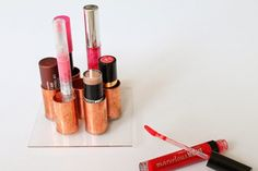 Candlestick as a lipstick holder? Quite a good idea