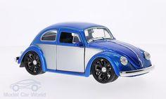 VW Beetle (Käfer) Tuning, blau/silber