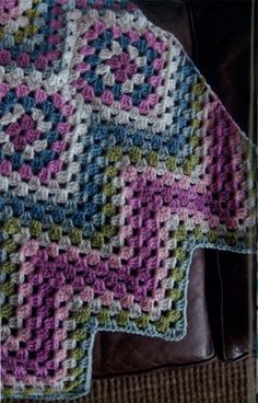 Granny square chevron