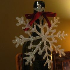 Hot glue snowflake DIY craft. Looks almost store bought.