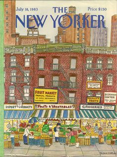 """The New Yorker"" cover by Barbara Westman, July 18, 1983 (https://www.etsy.com/transaction/171754592?)"