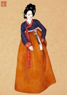 Korean Traditional Dress, Traditional Dresses, Korean Art, Asian Art, Korean Illustration, Korea Dress, Korean Painting, Korean Design, Korean Hanbok